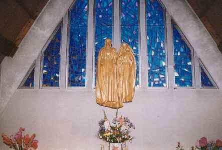 Statue des Coeurs Unis de Jésus et de Marie
