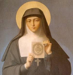 Sainte Marguerite Marie Alacoque dans images sacrée stemarg
